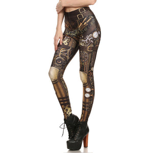 Leggings With Barbarian Scull Skull Tattoo Print