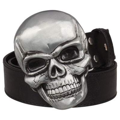 Men's Skull Buckle Belt