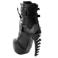 Load image into Gallery viewer, Punk Zipper High Heel Platform Ankle Boots