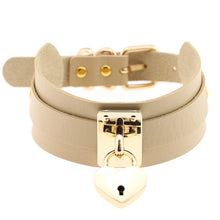 Load image into Gallery viewer, Metal Heart Padlock Choker