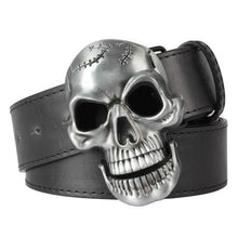 Load image into Gallery viewer, Men's Skull Buckle Belt