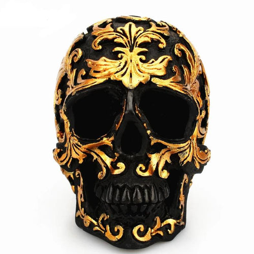 Black & Gold Skull - Wearable Tattoo