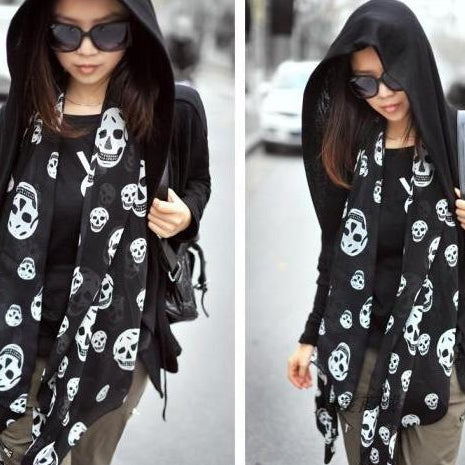 Long Punk Gothic Shawl