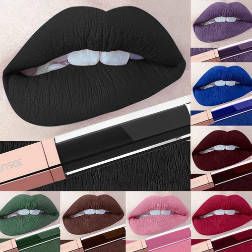 Color Liquid Waterproof Matte Lipstick (24 Colors to choose from)