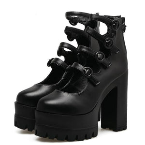 Platform Goth Shoes - Wearable Tattoo