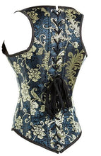Load image into Gallery viewer, Gothic Embroidery Under Bust Steel Boned Corset Vest