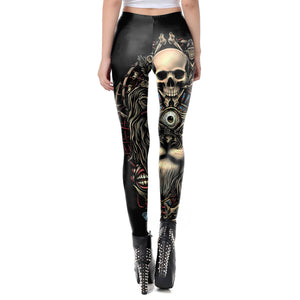 Punk Scull Tattoo Leggings