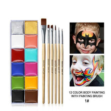 Load image into Gallery viewer, 12 Colors Body Paint Makeup - Wearable Tattoo
