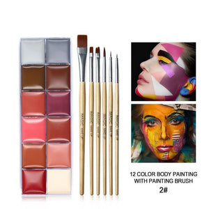 12 Colors Body Paint Makeup - Wearable Tattoo