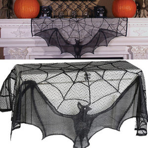 Bat & Cobweb Fireplace Mantel Decoration