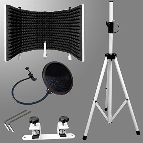 AxcessAbles SF-101KIT Recording Studio Microphone Isolation Shield w// Stand NEW