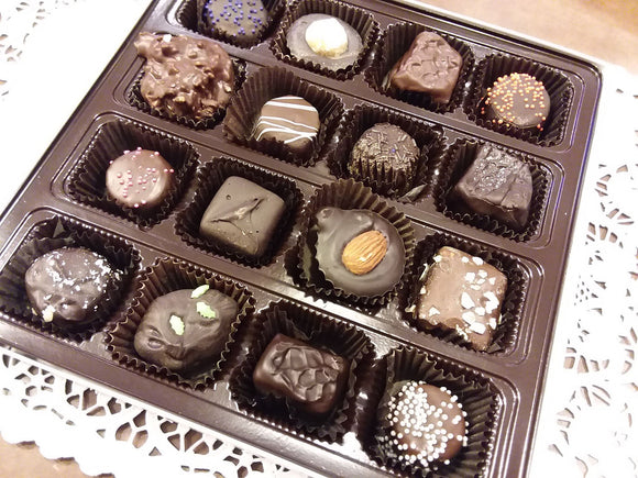 16 piece Chocolate Assortment - Assorted Milk and Dark Chocolate