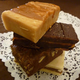 Caramel Quartet Fudge Sampler - 2 pounds of fudge (Turtle, Dulce, Praline, Dark Choc Salted)