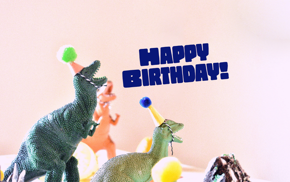 Happy Birthday - Dinosaur - Card & Box of Candy