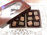 12 piece Caramel Assortment - Milk, Dark or Assorted Milk and Dark Chocolate