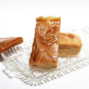 Dulce de Leche Fudge - (our vanilla fudge filled with caramel, and then swirled with more caramel)