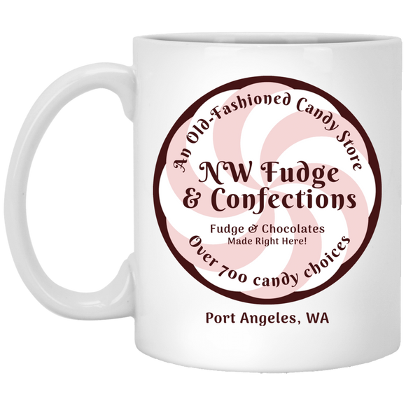 NW Fudge & Confections White Mugs