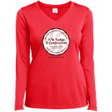 NW Fudge & Confections Ladies' LS Performance V-Neck T-Shirt