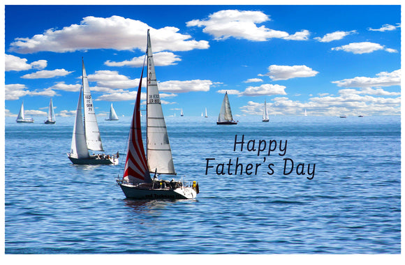Happy Father's Day - Sailboat - Card & Box of Candy