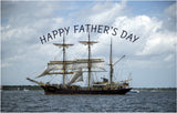 Happy Father's Day Sailing Ship - Card & Box of Candy