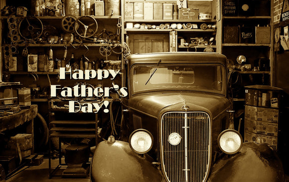 Father's Day Old Car - Card & Box of Candy