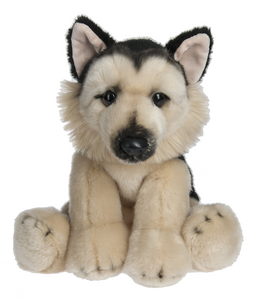 "Plush German Shepherd, 12"" Stuffed Dog"