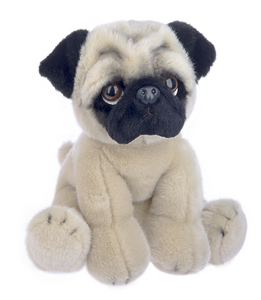 "Plush Pug, 12"" Stuffed Dog"