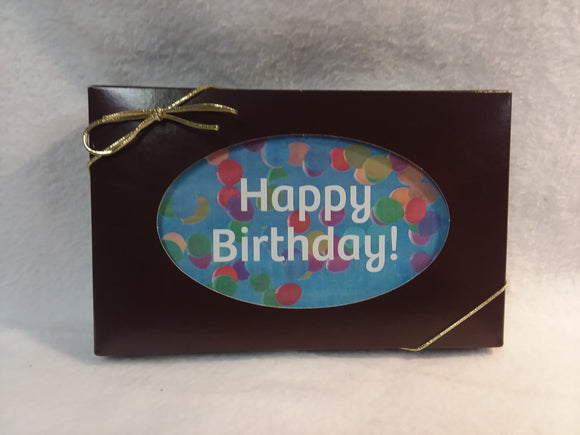 Happy Birthday - Balloons - Card & Box of Candy
