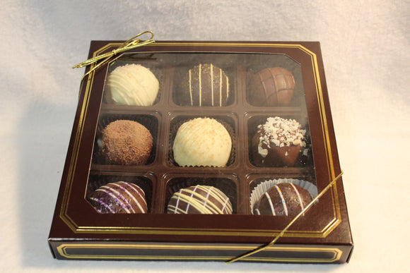 9 piece Assorted Truffle Box