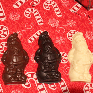 Chocolate Santa in Milk, Dark or White Chocolate