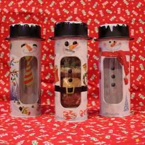 Make Your Own Fudge Sampler - 6 pieces in a Snowman Tin