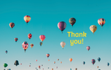Thank You Balloons - Card & Box of Candy