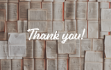 Thank You Book Pages - Card & Box of Candy