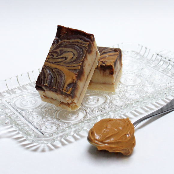 Tiger Butter Fudge (Vanilla Fudge with Creamy Peanut Butter and Chocolate)