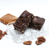 Turtle Fudge (rich chocolate, lots of caramel, and pecans)