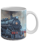 Train, Engine 1010 - 11 or 15 oz Mugs - Gift for Men, train lovers