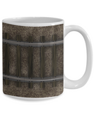 Gifts for Train Lovers - Railroad Track Wraparound Image on Mug - 11 or 15 oz ceramic cup
