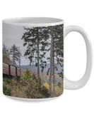 Steam Locomotive - 11 or 15 oz mug - Gift for men, train lovers, guys