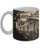 Old Train Etching Mug