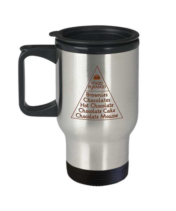 Food Pyramid Stainless Steel Travel Mug