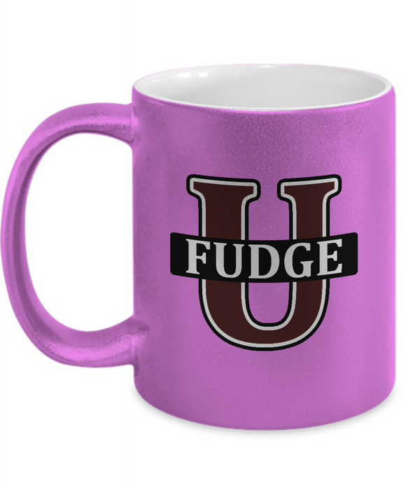 Fudge U Mug metallic finish