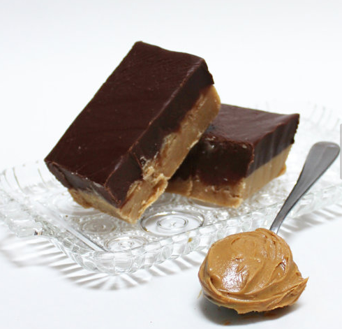 Chocolate Peanut Butter Fudge (a layer of our Rich Chocolate Fudge on top of Our Creamy Peanut Butter Fudge)