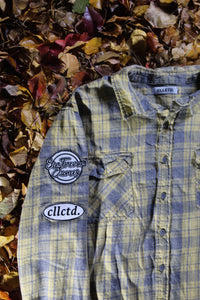 STJ Flannel Light Yellow/Grey Size L