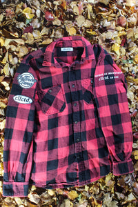 STJ Flannel Red/Black Checkered Size M