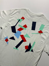 Load image into Gallery viewer, Collage Tee size M red/mint/blue