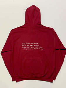 'dear person behind me' Hoodie