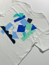 Load image into Gallery viewer, Collage Tee size L aqua