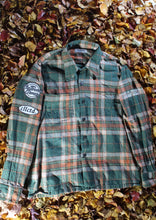 Load image into Gallery viewer, STJ Flannel Green/Orange Size L