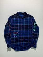 Load image into Gallery viewer, Custom Flannel mint/mango/light blue size M