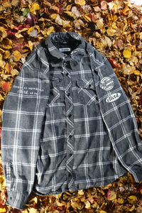 STJ Flannel Light Grey/White Size L